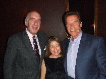 Harry Jay Katz and Debra Renee Cruz with Gov. Arnold Schwarzenegger.