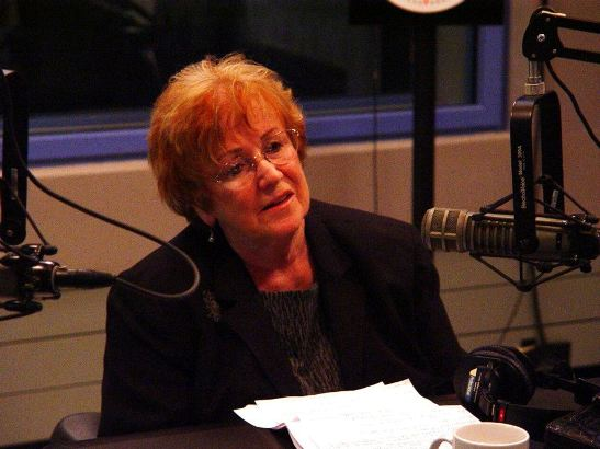 "Dee Coccia, co-executive director of Vision For Equality Inc., during an interview last year on WHYY´s ""Radio Times."" (Photo courtesy of Radio Times with Marty Moss-Coane/WHYY)."