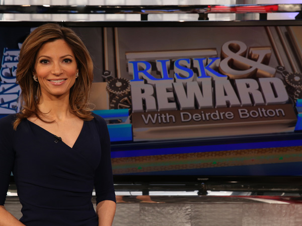 "Deirdre Bolton on the set of Fox Business´ new show ""Risk & Reward"" (Photo courtesy of Fox Business)"