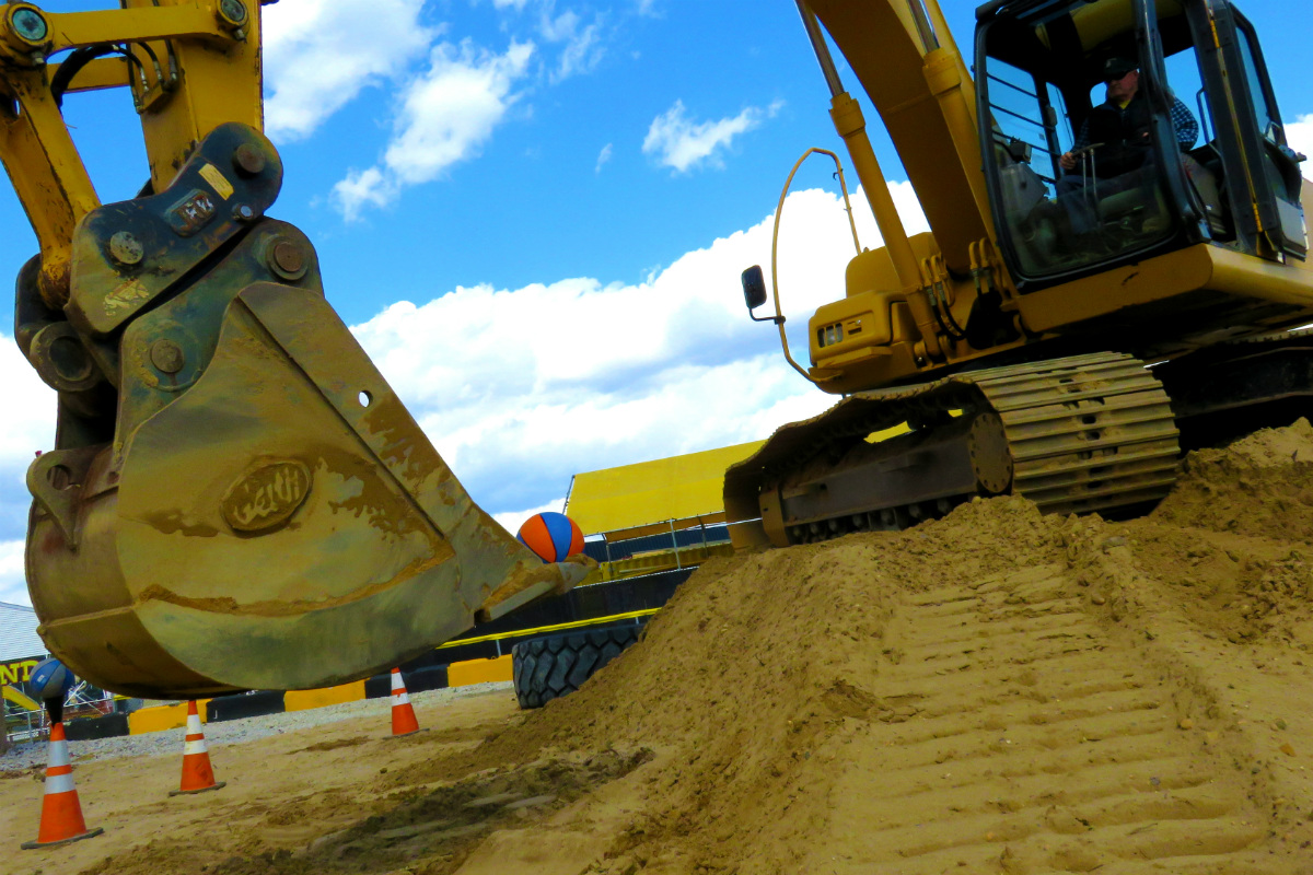 Ride an excavator, one of the pieces of construction equipment adults can try out at Diggerland XL.