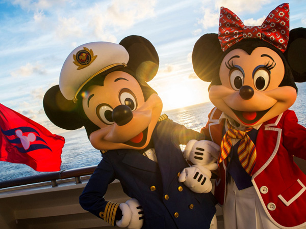 The Disney Magic crew wouldn´t be complete without Captain Mickey and First Mate Minnie, who greet guests onboard the ship. Special visits from favorite Disney characters are guaranteed to delight the entire family every day on the Disney Magic. (Matt Stroshane, photographer)
