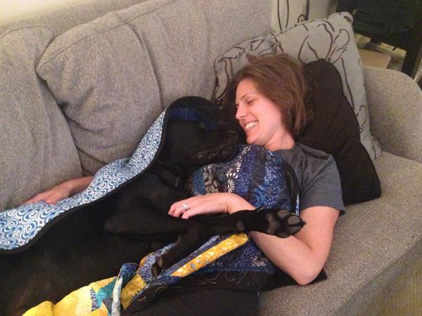 A dog named Rescue. (Photo courtesy of Jessica Kensky & Patrick Downes)