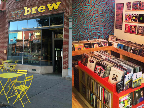 """RyBrew (L) and Brewerytown Beats (R) will be one of the many businesses participating in """"Dollar Days"""" along West Girard Ave. (Photos via Facebook)"""