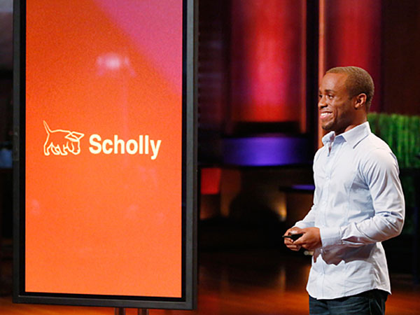 """Christopher Gray pitches Scholly on """"Shark Tank"""""""