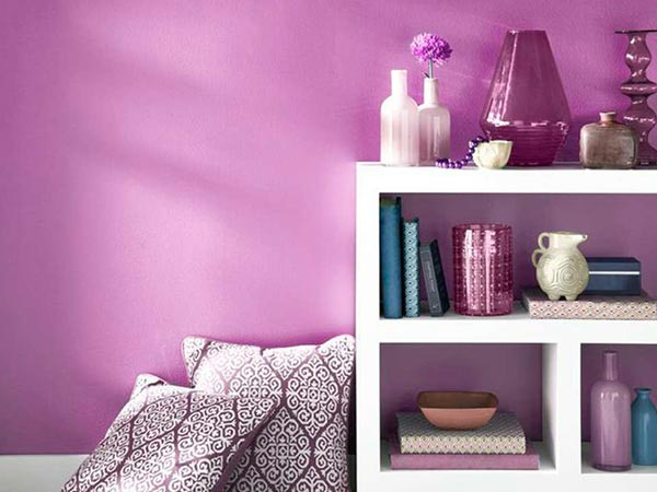 Radiant orchid from the Pantone Universe paint collection by Valspar.