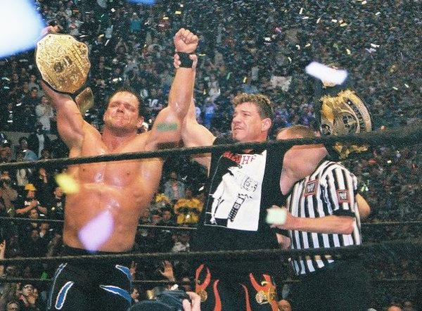 Wrestlers Eddie Guerrero (left) and Chris Benoit died young.