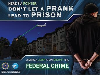 FBI flier on laser pointer PSA