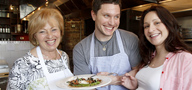 Jeffrey Michaud of Osteria, has been inspired in his cooking by his mother-in-law, Giuseppina Carrara (left), of Bergamo, Italy.