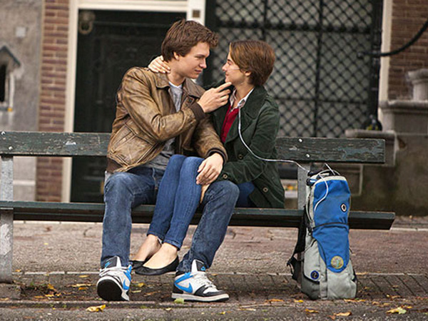 "Ansel Elgort and Shailene Woodley in ""The Fault in Our Stars."" (Twentieth Century Fox photo)"