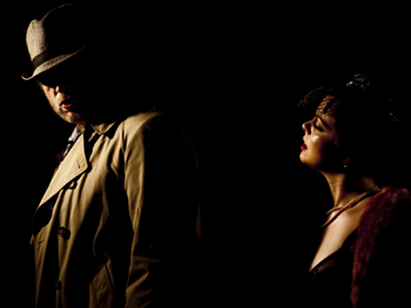 "A photo from the production ""Noir."""