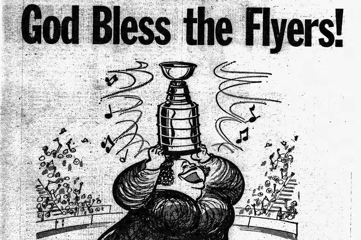 The Flyers win their first Stanley Cup on May 19, 1974.