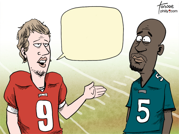 Nick Foles Donovan McNabb Eagles cartoon