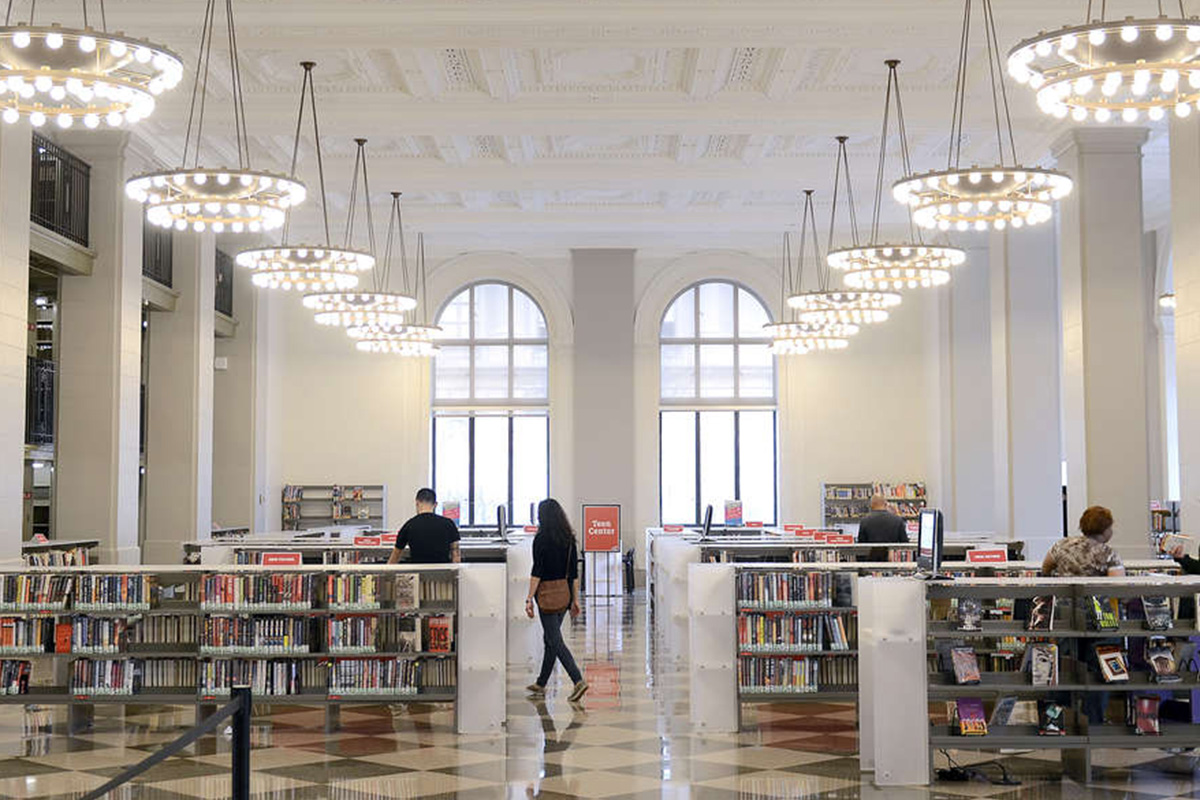 The Philbrick Popular Library in the Parkway Central Branch of the Free Library of Philadelphia.