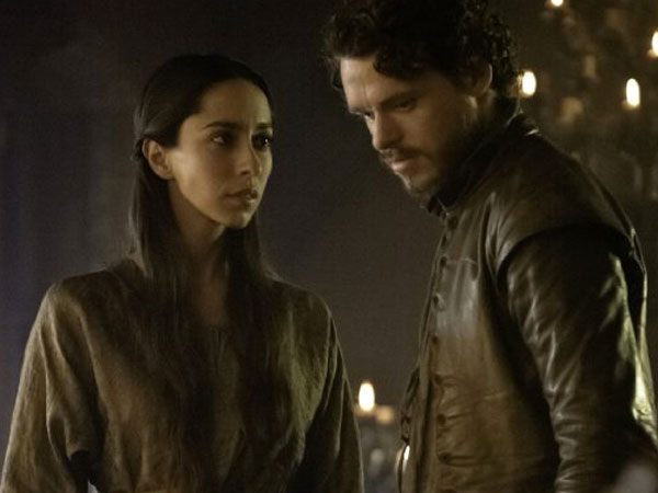 Richard Madden and Oona Chaplin in Game of Thrones. (HBO)