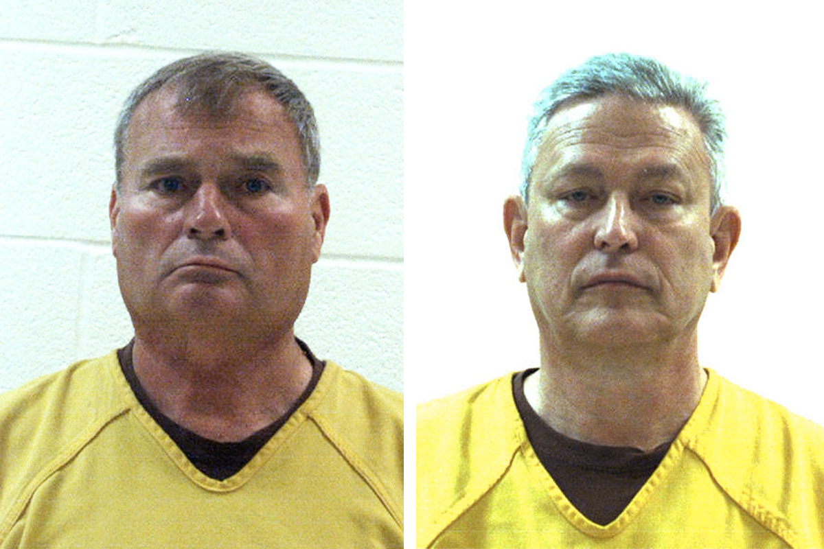 Former Penn State University vice president Gary Schultz (left) and former athletic director Tim Curley reported to the Centre County Correctional Facility on Saturday to serve sentences for how they responded to a 2001 complaint about Jerry Sandusky showering with a boy.<br /><br />