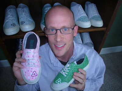 Gary Gagnon with his Remyxx sneakers