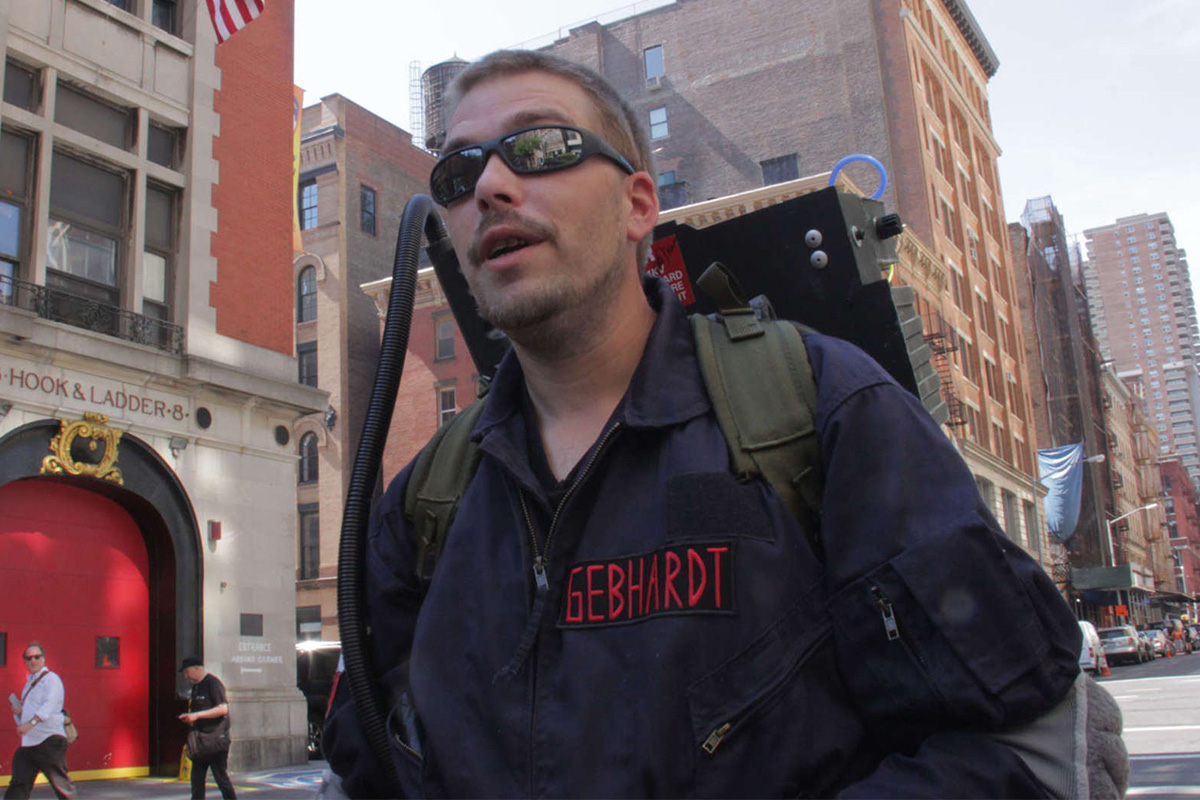 Tom Gebhardt of Central New Jersey is a normal guy with a wife and two kids who works at a pizza shop. But when there's something strange in your neighborhood, he's the guy you might want to call — after all, not everybody has a proton pack and Ecto-1 at their disposal.