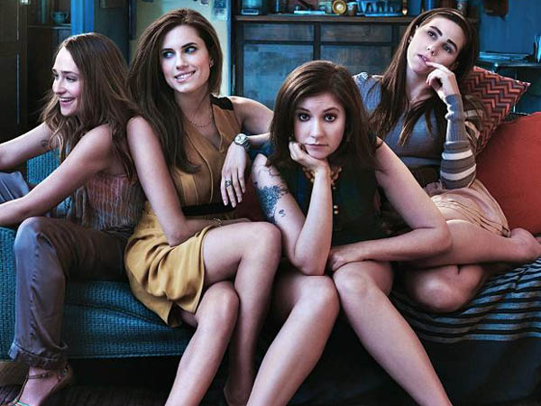 "The cast of HBO´s ""Girls"" starring Lena Dunham."