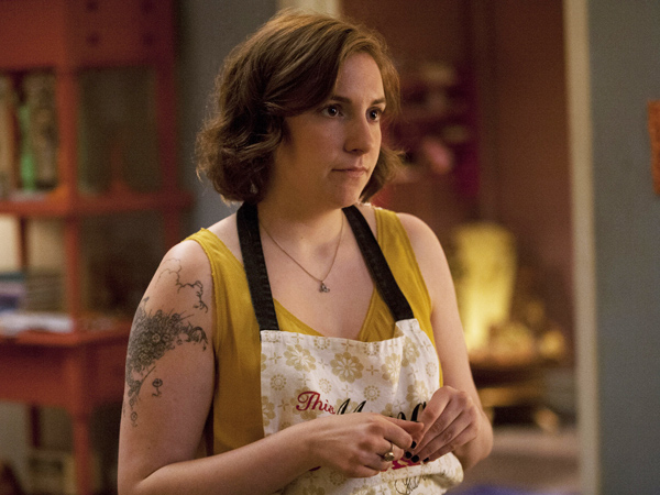 "Lena Dunham plays Hannah on the HBO series ""Girls"""