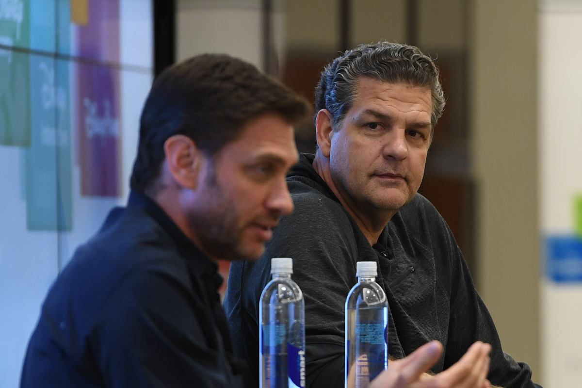 ´Mike & Mike´ host Mike Golic (right) denies reports of drama on the set with co-host Mike Greenberg (left)