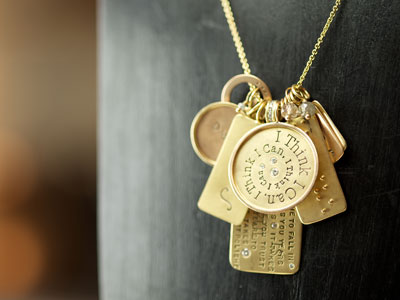 A sweet necklace from Heather B. Moore offered at TownHome.