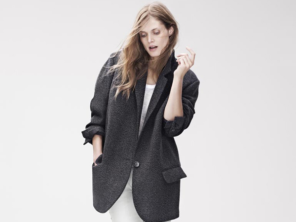 Coat, $199; Long-Sleeved T-Shirt, $39.95; Trousers, $299 (Photo courtesy H&M)
