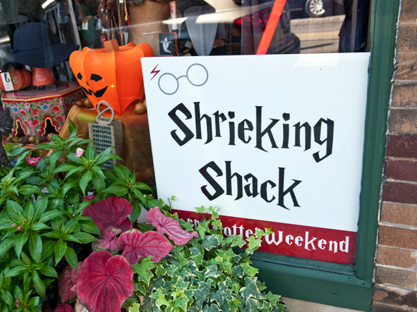 """An image of a local Chestnut Hill business transformed into the Shrieking Shack from the """"Harry Potter"""" book series. (Photo courtesy of chestnuthillpa.com)"""