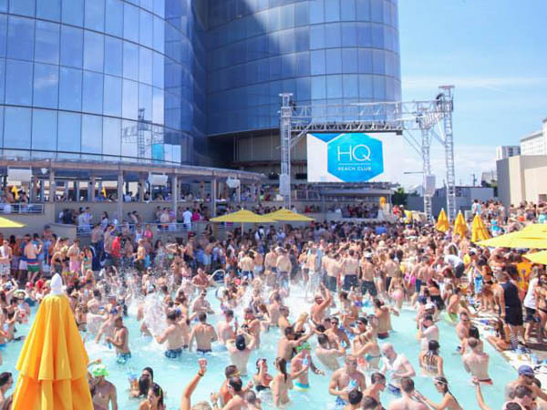 HQ Beach Club at Revel Casino in Atlantic City, NJ hosts an all-day party on July 4. (Photo via Facebook)