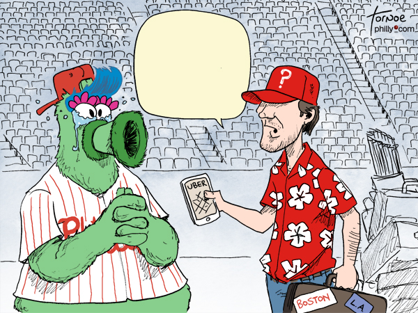 Cole Hamels Philly Phanatic