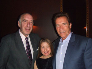 Katz, Cruz and Schwarzenegger last year at Center City cigar bar Mahogany (1524 Walnut).
