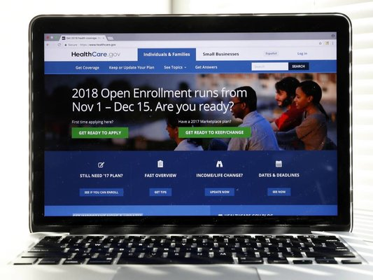 Just over one week is left before open enrollment ends on the Obamacare exchange. It is the shortest season yet, and the latest numbers appear to be down substantially. This screenshot of Healthcare.gov was taken before the season began.  (AP Photo/Alex Brandon)<br />