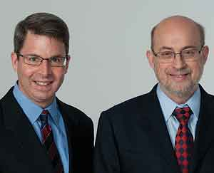 Authors Marc Gillinov, left, a heart surgeon, and Steven Nissen, a Cleveland Clinic cardiologist. Among findings, rheumatoid arthritis and lupus, they say, increase risk of heart disease.<br />