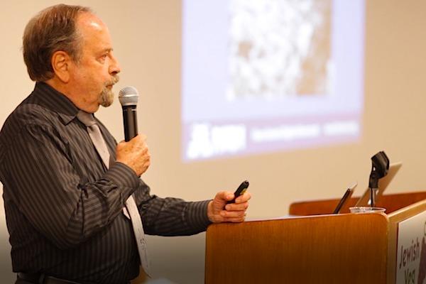 Alex Hershaft speaking in New York City in 2016.
