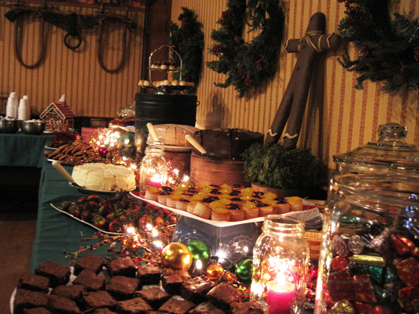 This 2012 photo provided by courtesy of Inn at East Hill Farm shows the food served at the annual Christmas party at Inn at East Hill Farm. Many people hold annual parties, and one good rule is to let those parties change and evolve as the guests do. (AP Photo/Inn at East Hill Farm)