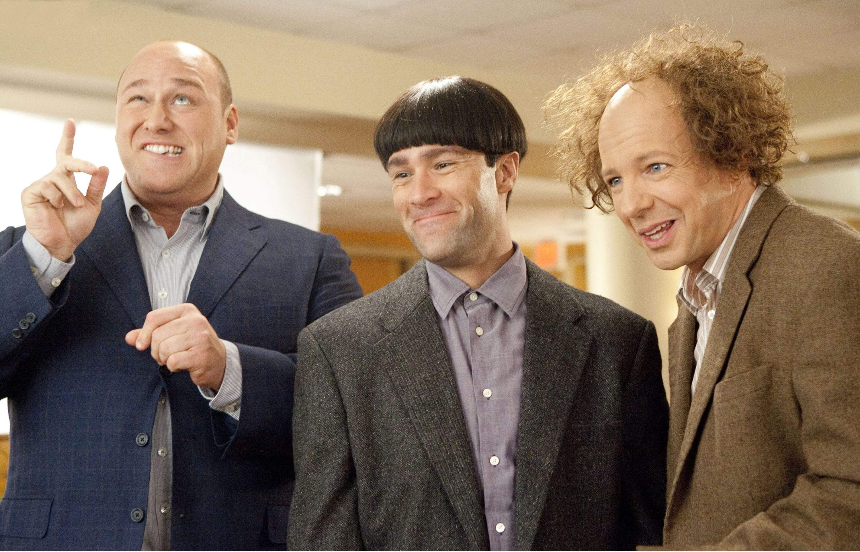 Will Sasso (left), Chris Diamantopoulos, and Sean Hayes star in &amp;ldquo;The Three Stooges.&amp;rdquo; <br /><br />ASSOCIATED PRESS