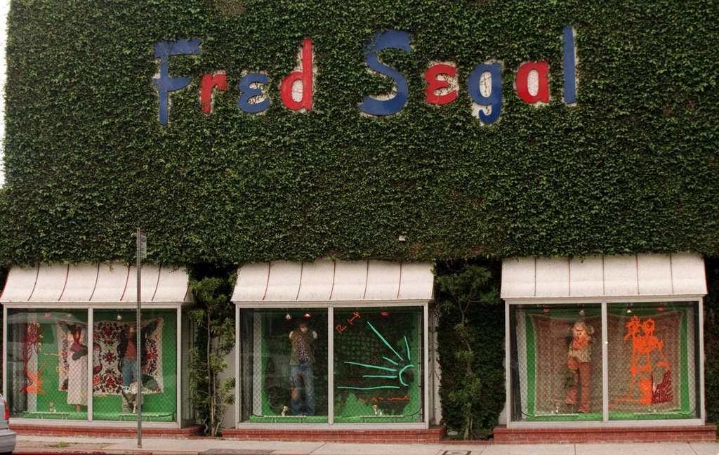 """Fred Segal Melrose, a destination store for high-fashion clothes and accessories in Los Angeles. """"We have an opportunity,"""" said an official for Sandow Media, which bought the brand, """"to take Fred Segal … to places like New York, Miami, and Las Vegas."""" IRIS SCHNEIDER / Los Angeles Times"""