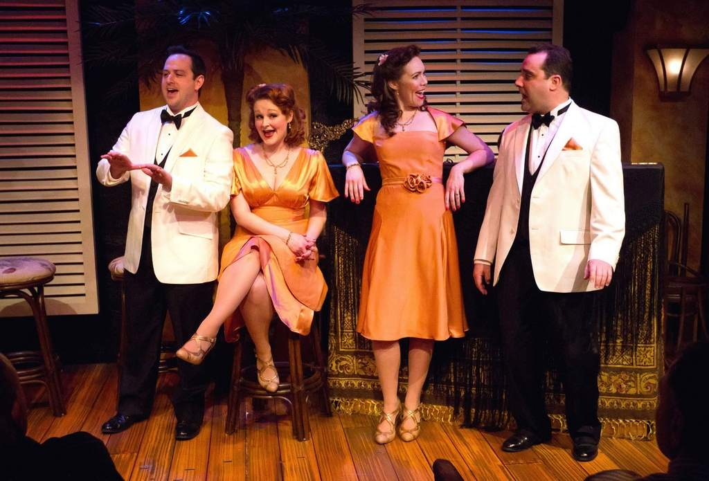 Michael Philip O'Brien, Rebecca Robbins, Jennie Eisenhower and Fran Prisco in Rodgers and Hammerstein's A Grand Night for Singing at Walnut Street Theatre.  Photo by Mark Garvin.