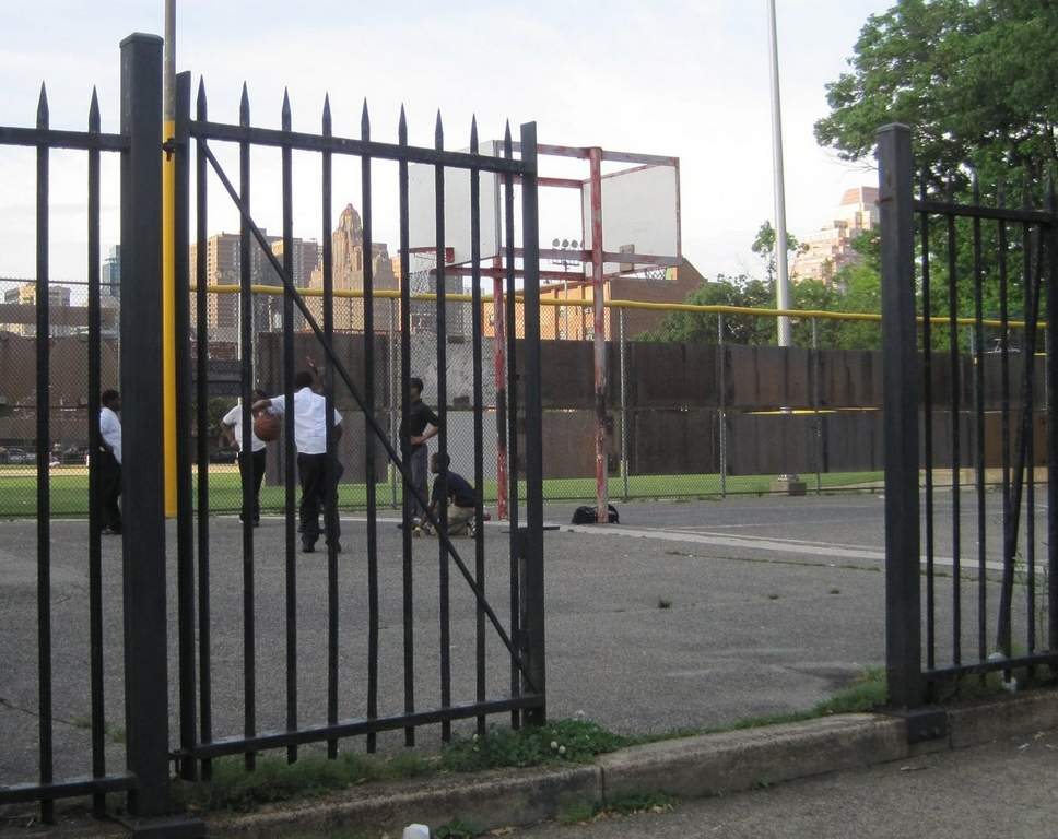 The gate around the Marian Anderson Recreation Center&amp;rsquo;s basketball court is broken.<br /><br /> Juliana Reyes