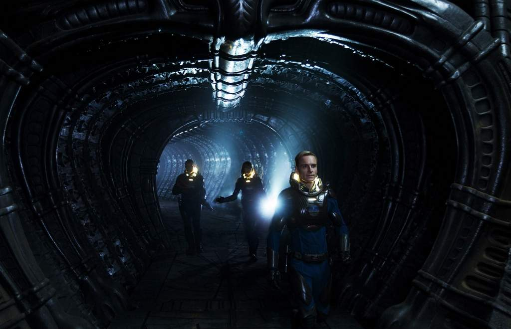 "This film image released by 20th Century Fox shows Michael Fassbender, right, in a scene from ""Prometheus."" (AP Photo/20th Century Fox, Kerry Brown)"