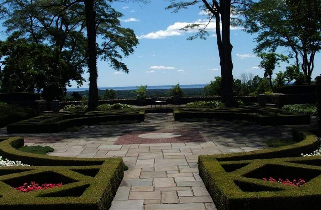 """View of Long Island Sound from the parterre designed by Watson for his """"marquee client,"""" fashion designer Tommy Hilfiger, at his home in Greenwich, Conn. PHILLIP WATSON"""