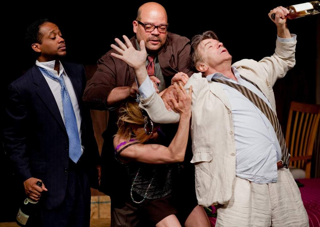 "In ""The End of Civilization,""  a one-act from George F. Walker´s ""Suburban Motel"" cycle: (from left)  Steven Wright, Brian Anthony Wilson, Michelle Pauls, Kenneth John McGregor."