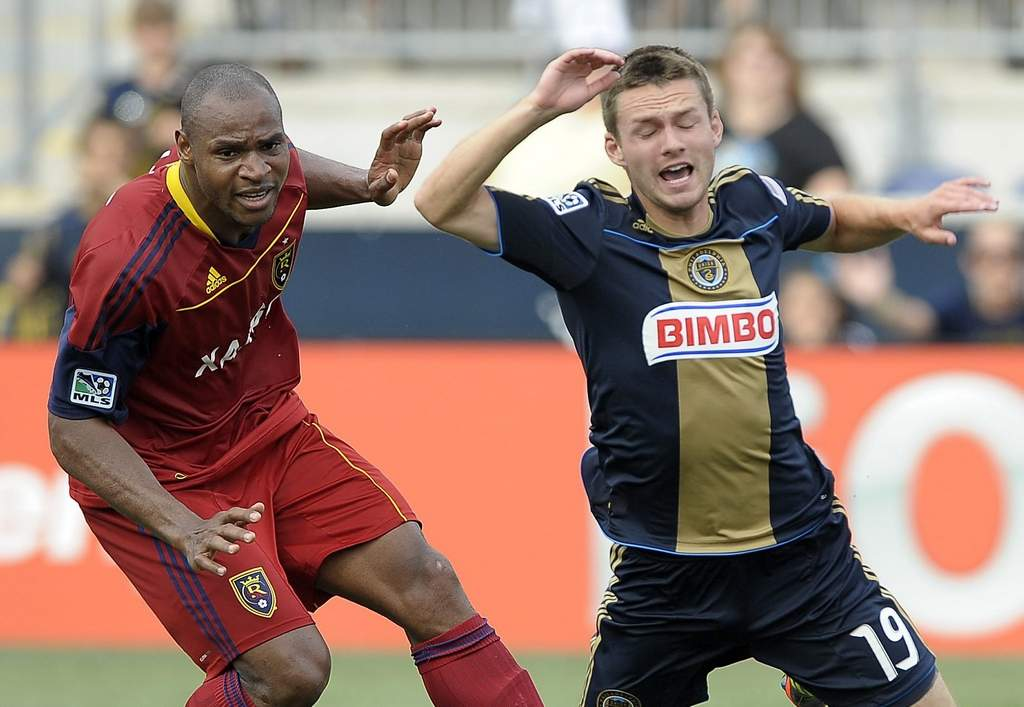 Union&acute;s Jack McInerney (right), in a 2011 game, is getting a fresh start under John Hackworth.<br /><br />associated press
