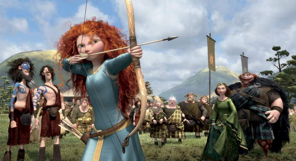 "Merida, voiced by Kelly Macdonald, is the feisty lass who balks at an arranged marriage in ""Brave."""