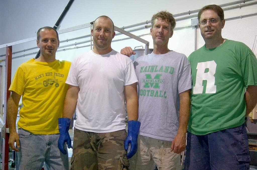 Tuckahoe Brewing´s partners (from left): Jim McAfee, Matt McDevitt, Tim Hanna and Chris Konicki.