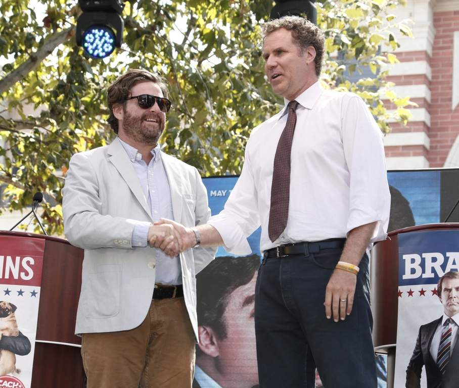 Zach Galifianakis (left) and Will Ferrell star in &quot;The Campaign.&quot; <br /><br /><br /><br />ASSOCIATED PRESS
