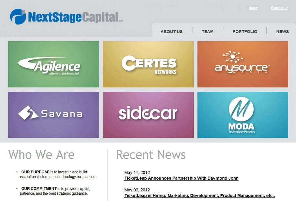 NextStage Capital has invested in a variety of early-stage tech companies. Its second fund will focus on software.
