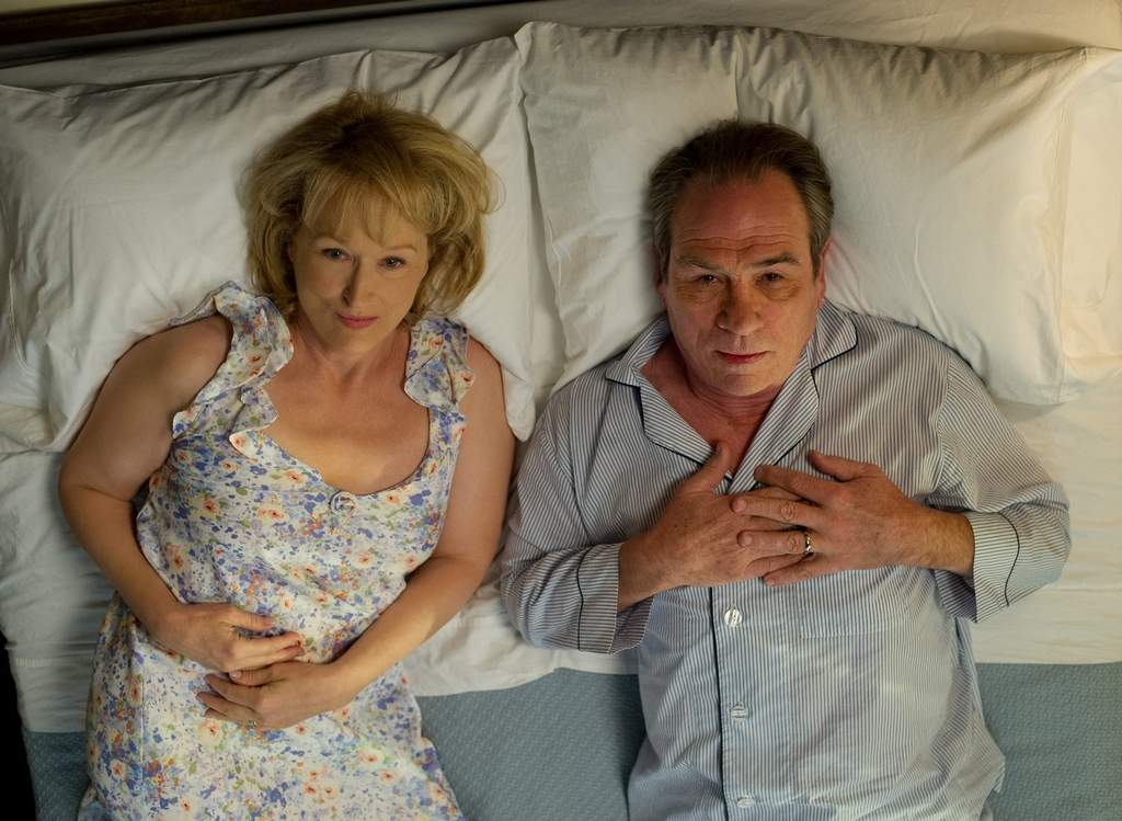 Meryl Streep (left) and Tommy Lee Jones portray a couple who go to marriage counseling after 30 years together.