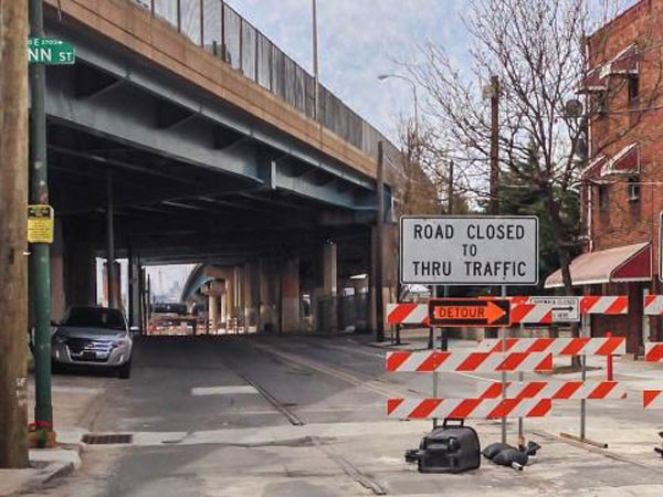 The work beginning Monday will rebuild the northbound portion of I-95 between the Girard Avenue and Allegheny Avenue interchanges in Philadelphia. (PlanPhilly)