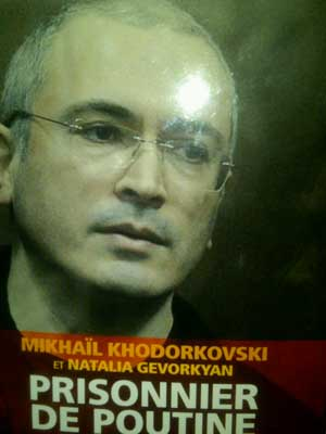New book on Mikhail Khodorkovsky, the political prisoner of Vladimir Putin.