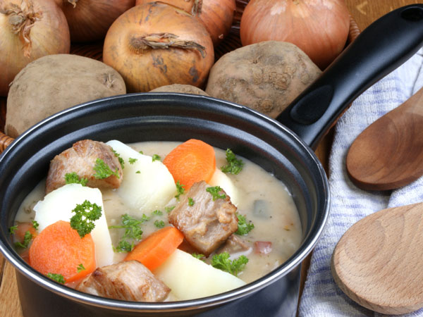 This traditional Irish lamb stew is full of leeks, carrots and potatoes, and is less than 300 calories per serving.
